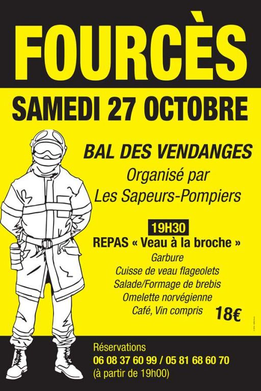 Bal Vendanges Pompiers Fources 27 10 2018